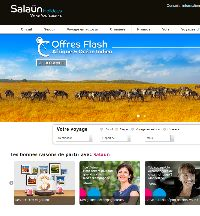 Le site E-commerce BtoC www.salaun-holidays.com